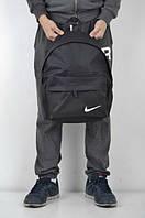 Сумка спортивная, черная Nike, птичка Найк, ф1305