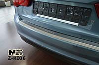 Накладка на бампер  Kia RIO III 4D 2013 / Киа Рио