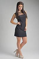 Элегантное черное короткое женское платье Виктори