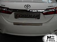 Накладка на бампер  Toyota COROLLA XI 2013 / Тойота Королла