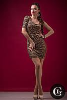 Леопардовое женское клубное платье акционная цена