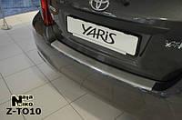 Накладка на бампер  Toyota YARIS III 5D 2011-2014 / Тойота Ярис Nataniko