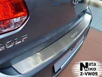 Накладка на бампер  Volkswagen GOLF VI 5D 2008- / Фольксваген Гольф 6