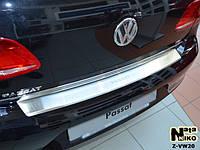 Накладка на бампер  Volkswagen PASSAT B7 4D 2010- / Фольксваген Пассат