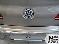 Накладка на бампер  Volkswagen PASSAT CC 2008- / Фольксваген Пассат