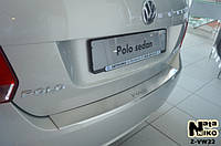 Накладка на бампер  Volkswagen POLO V 4D 2009- / Фольксваген Поло