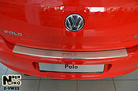 Накладка на бампер  Volkswagen POLO V 5D 2009- / Фольксваген Поло