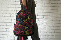 Рюкзак с бабочками, принт бабочки на рюкзаке, ф1529