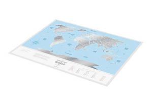 """Скретч карта 1DEA.me Мира Travel Map """"Silver"""" english (тубус), фото 3"""