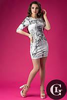 Дайвинг платье от Москино черно-белое с принтом  oda