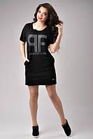 Женское платье стильное черного цвета со стразами Paparazzi Fa hLion