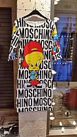 Очень красивое платье разноцветное с мультиками от  Moschino