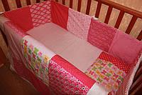 """Набор постельного в детскую кроватку""""Бабочки"""""""