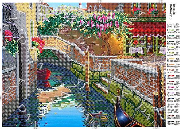 Схема под бисер Венеция