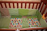 """Набор постельного в детскую кроватку""""Совушки"""", фото 2"""