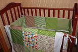 """Набор постельного в детскую кроватку""""Совушки"""", фото 4"""