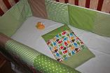 """Набор постельного в детскую кроватку""""Совушки"""", фото 5"""
