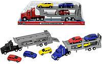 Автотранспортер с тремя машинками Dickie Toys 3746000