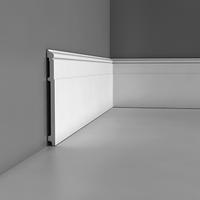 Лепнина из полиуретана, Напольный плинтус гладкий Orac decor Luxxus SX156