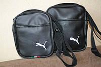 Барсетка, сумка брендовая, кожаная, Пума, Puma, ф1634