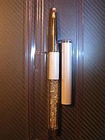 Кисть для геля №4 со стразами Swarovski синтетика