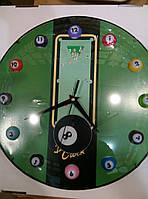 Часы для бильярдной  настенные, пластик, кварцевый механизм