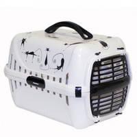 Moderna МОДЕРНА РОУД-РАННЕР 1 переноска для собак и кошек, с пластиковой дверью силуэт кота, 51х31х34 см