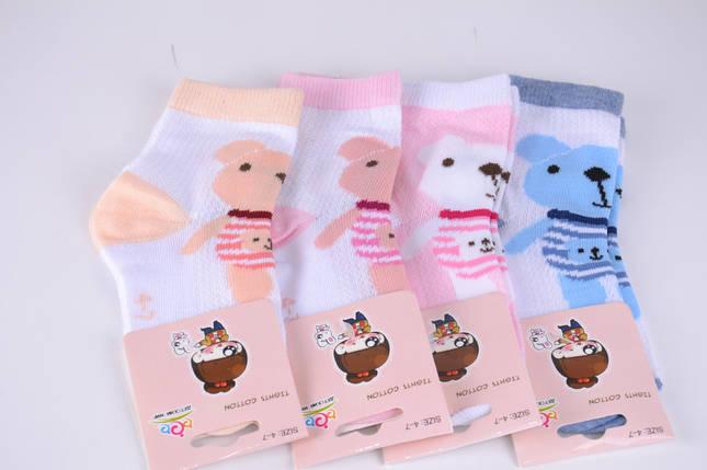 Детские носки сеточка Медведи р.0-3 года (B2677/0-3) | 12 пар, фото 2