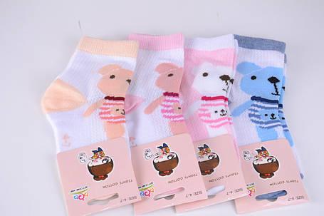 Детские носки сеточка Медведи р.8-12 лет (B2677/8-12) | 12 пар, фото 2
