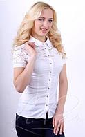 Стильная женская блуза из нейлона и гипюра 2002