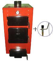 Твердотопливный котёл для дома мощностью 12 кВт HT-UKS (с регулятором тяги)