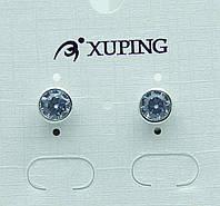 Позолоченные серьги гвоздики Xuping. Качественные серьги недорого на Украине. 363