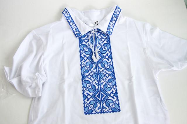вышитая футболка с коротким рукавом для мальчика