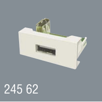 Розетка USB 45x22,5 модульная для установки в люк, кабель-канал, настенный бокс