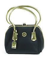 Черная небольшая женская сумка