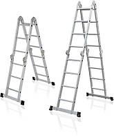 Лестница алюминиевая мультифункциональная трансформер АМ 0028-0030