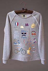 Женский светшот (свитшот) с принтом Париж