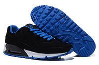 Кроссовки женские Nike Air Max 90 VT черные с голубым