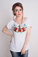 Молодежная женская футболка с вышивкой