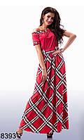 Яркое длинное платье - 8393