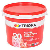 """Краска интерьерная полуматовая """"20"""" Триора 3л"""