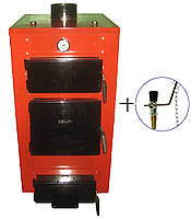 Твердотопливный котел длительного горения HT-UKS мощностью 20 квт (с регулятором тяги)