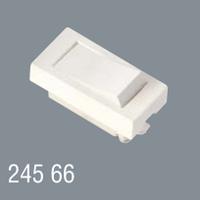 Выключатель одинарный 45x22,5 модульный для установки в люк, кабель-канал, настенный бокс