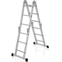 Лестница алюминиевая 2-х секционная универсальная раскладная АМ 0206-0212