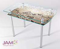 Стол обеденный стеклянный КТ-02 1200*800*750