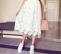 Женская шикарная юбка с кружевом (2 цвета), фото 1