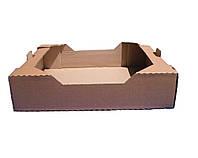 Лоток Клубничный бурый 573*370*135 мм из гофрокартона для фруктов ягод овощей под пинетки 1 000 г