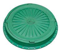 Люк канализационный пластиковый 5т зеленый