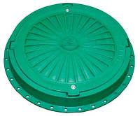 Люк полимерный 5т зеленый с замком