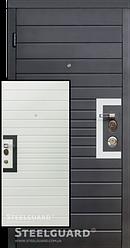 Входная дверь SteelGuard Domino 178 U, размер 860/960 х 2040 мм